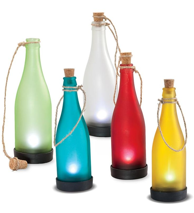 Colorful Solar Powered Bottle Lights