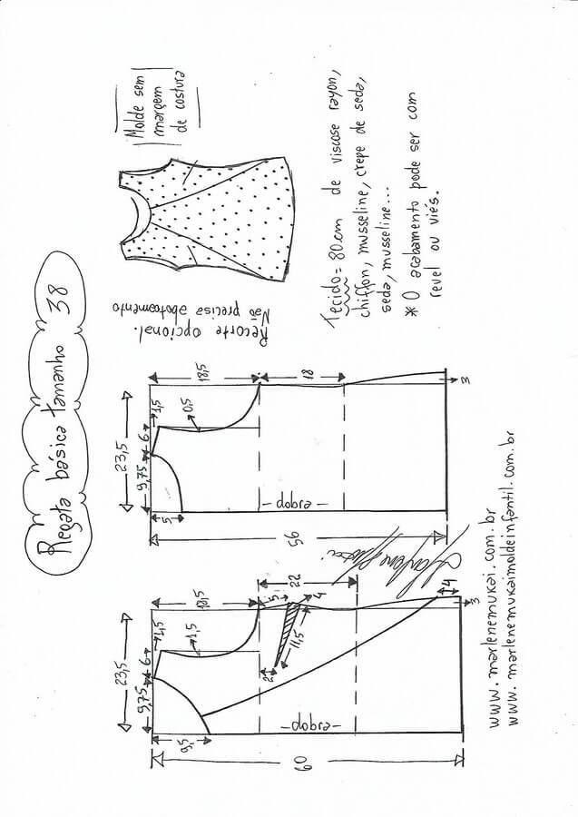 DIY Patrones básicos para blusas | Ideas y Patrones | Pinterest ...