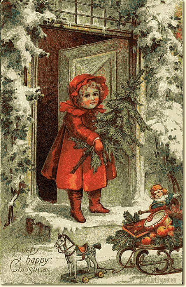 Картинки новогодние ретро, поздравление днем