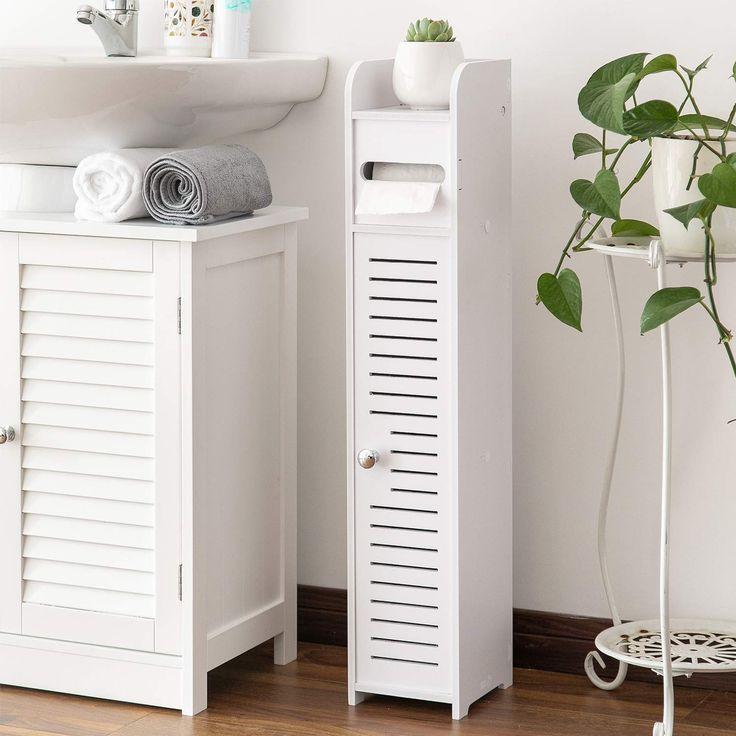 AOJEZOR Small Bathroom Storage Corner Floor with