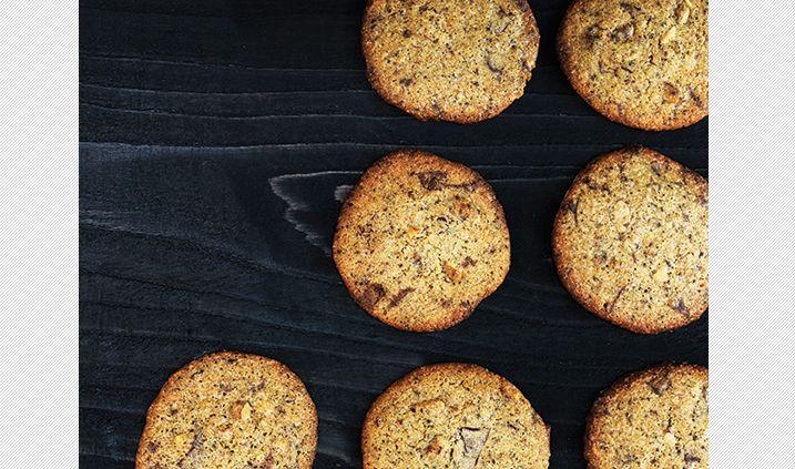 Lakridscookies med mørk chokolade
