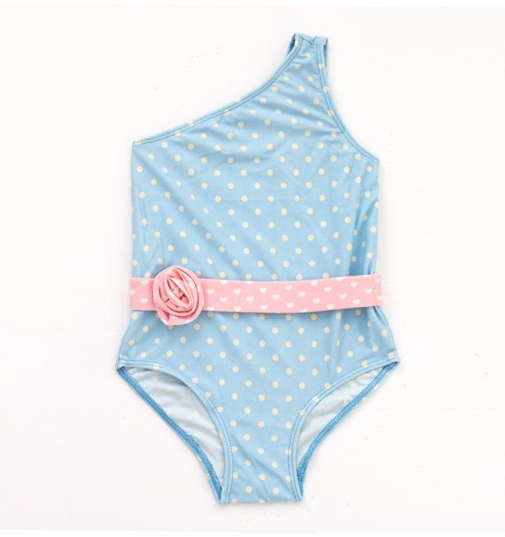 Little Girls Swimwear  Kids Swimsuit  Little Girl by CocomoSwim