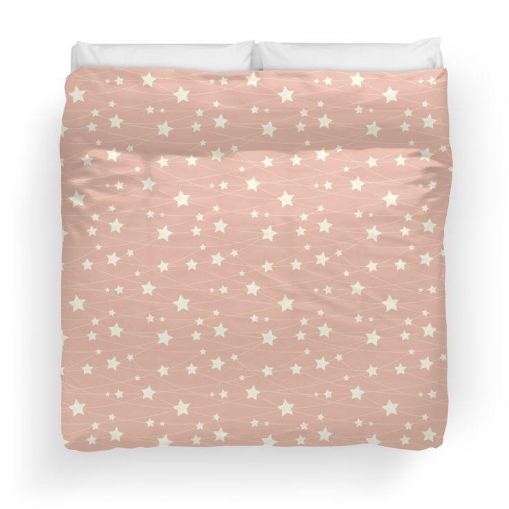 Dreamy pattern in ashy pink color. Designed by Luna Princino. #lunaprincino #luna #princino #home #decor #duvet #cover #design #goodnight #pretty #dreamy #hanging #stars #ashy #pink #fantasy #pattern #starry #pale #pastel #girlish #magic #beautiful #bedroom #redbubble #print #prints #interior
