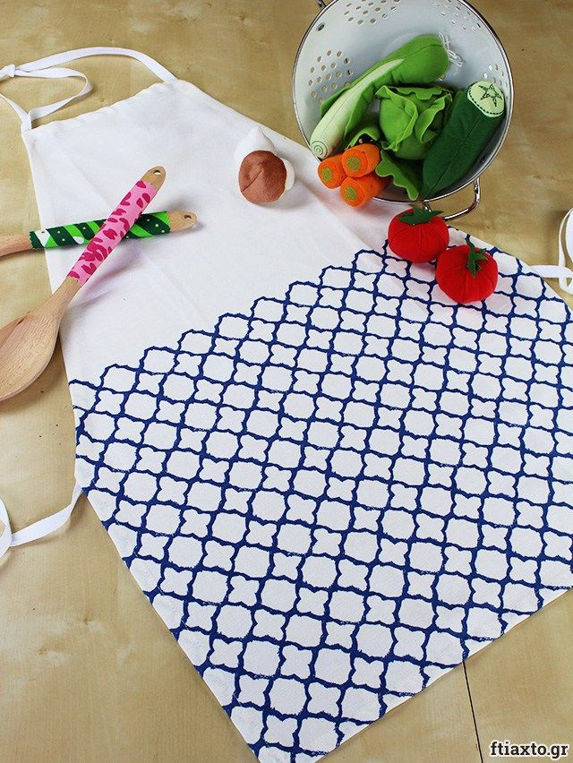 Ποδιά από πετσέτα κουζίνας χωρίς ράψιμο – ftiaxto.gr