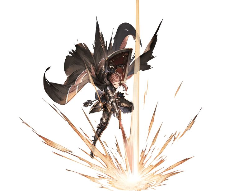 1girl armor attack bangs belt black_lipstick boremia cape full_body gauntlets granblue_fantasy holding holding_sword holding_weapon lipstick long_hair makeup minaba_hideo official_art pink_eyes pink_hair shield side_ponytail simple_background solo sword torn_cape torn_clothes transparent_background weapon