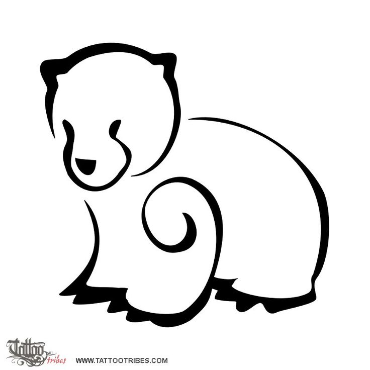 Bear cub  Bears symbolize love and strength, protection.  Lindsay requested this small sized design of a very stylized bear cub.  http://www.tattootribes.com/index.php?newlang=English&idinfo=6465
