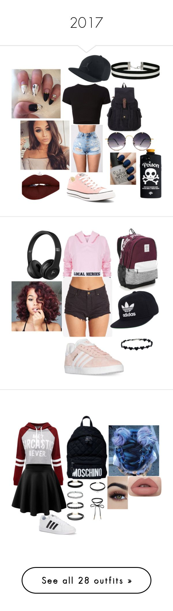 """""""2017"""" by mariapazmarixxd on Polyvore featuring moda, Getting Back To Square One, Converse, Spitfire, Miss Selfridge, OPI, Local Heroes, Billabong, adidas y Victoria's Secret"""