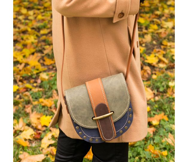 This multicolored, HANDMADE, LEATHER shoulder bag that we call a box will be…