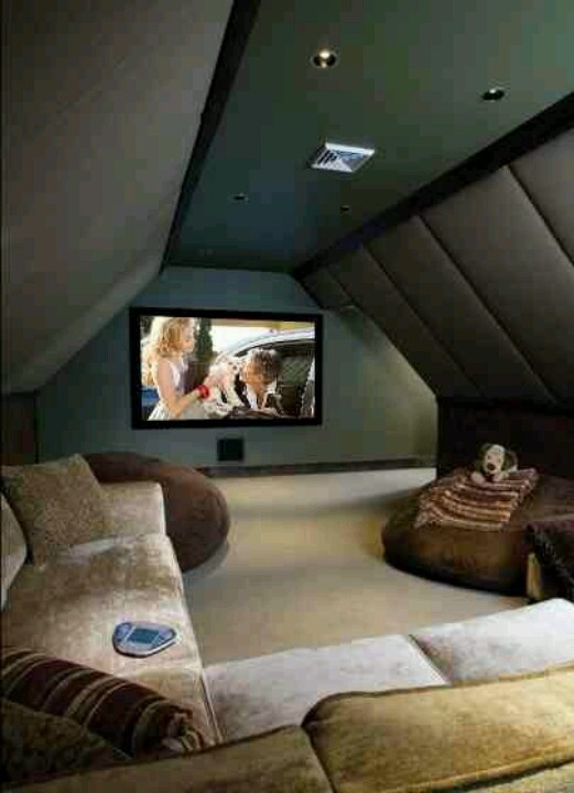 Making an attic VERY useful! Home theater