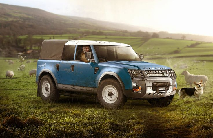 Land Rover Defender Concept - Queen Farmer model