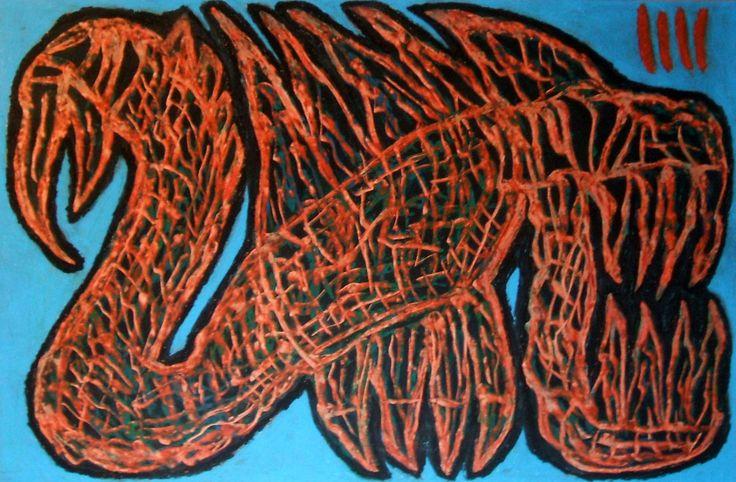 """""""Demone carogna III"""" 2015 Tecnica mista su cartoncino 38x58 © Pietro Gargano"""