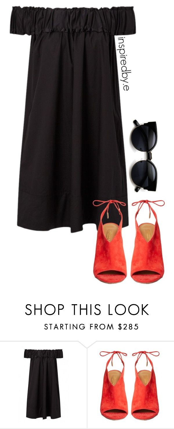 """Audrey"" by emmakiis on Polyvore featuring Aquazzura and ZeroUV"