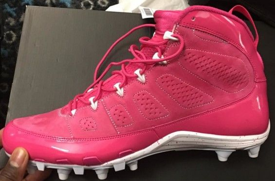 http://SneakersCartel.com NFL Players Are Wearing Pink Air Jordan Cleats In Honor Of Breast Cancer Awareness Month #sneakers #shoes #kicks #jordan #lebron #nba #nike #adidas #reebok #airjordan #sneakerhead #fashion #sneakerscartel