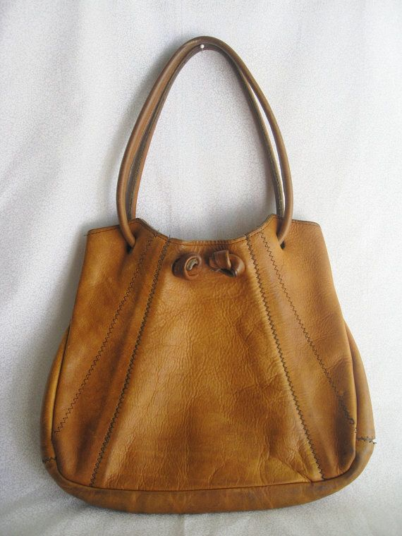 Boho+leather+bag/vintage+caramel+color+leather+di+BohoRain+su+Etsy,+$26,00