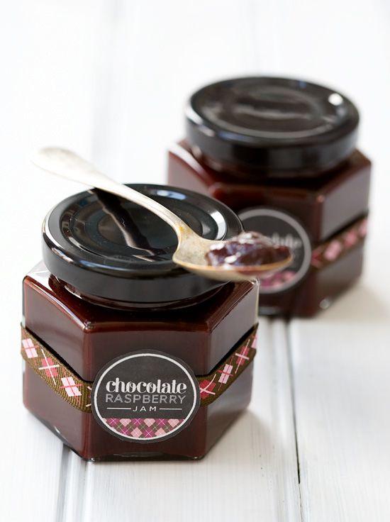 Chocolate Raspberry Jam.   http://www.loveandoliveoil.com/2012/07/chocolate-raspberry-jam.html