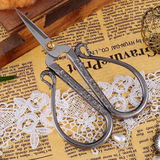 Купить Ножницы винтажные - темно-серый, винтажный, ножницы, подарок подруге, винтаж, для рукоделия, сталь