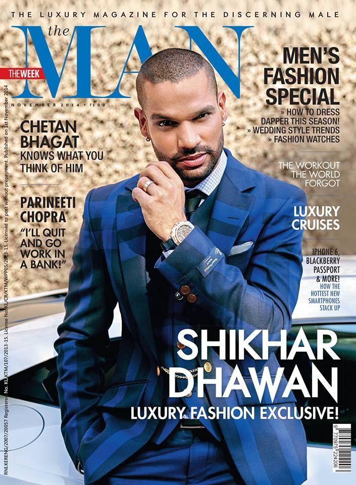 Shikhar Dhawan at The Man magazine