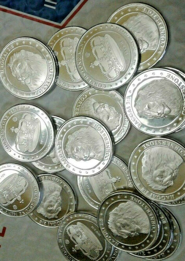 20 Pcs Cornerstone Crown 999 Silver Bullion Coins 1 Oz Ea Lion Ebay In 2020 Silver Bullion Coins Silver Bullion Gold And Silver Coins