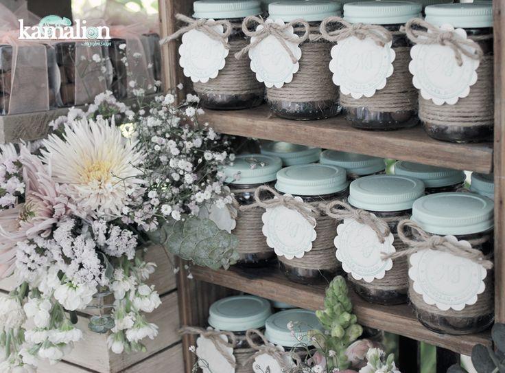 www.kamalion.com.mx - Mesa de Dulces / Candy Bar / Wedding / Boda / Rosa Menta…