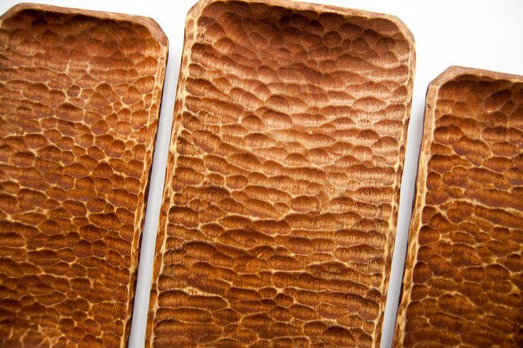 Набор тарелок из берёзы. Дерево берёза, льняное масло, пчелиный воск   «Ламбада-маркет»
