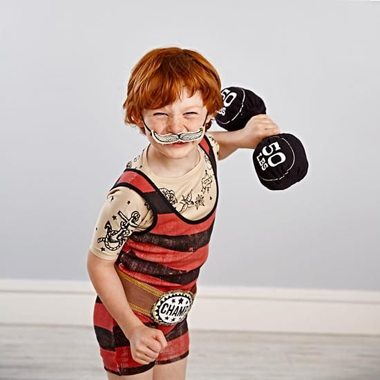 Weightlifter Disguise the Limit Dress-Up (Large) | The Land of Nod + Misha Lulu