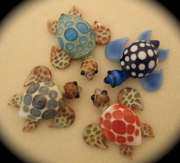 Glass Blown Sea Turtles