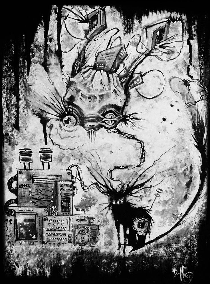 Lab Cat by DollCreep.deviantart.com on @DeviantArt