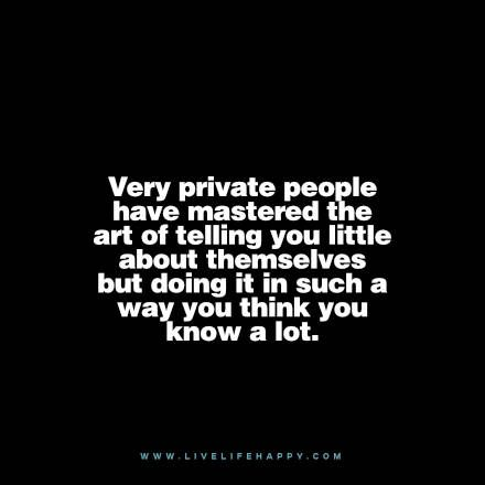 I do this all the time. Fill the silence with chatter while I keep everything important to myself.
