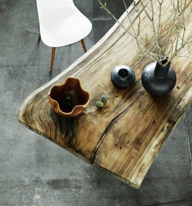 Тренды- столы из натурального дерева #дизайнинтерьера #excll #решения