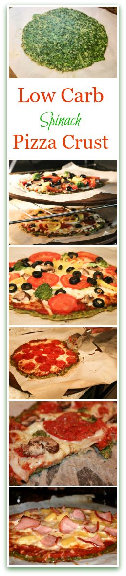 This Low Carb Spinach Pizza Crust Recipe with your favorite pizza toppings tastes just like a real pizza on a flat bread, but no guilt. You will love it!
