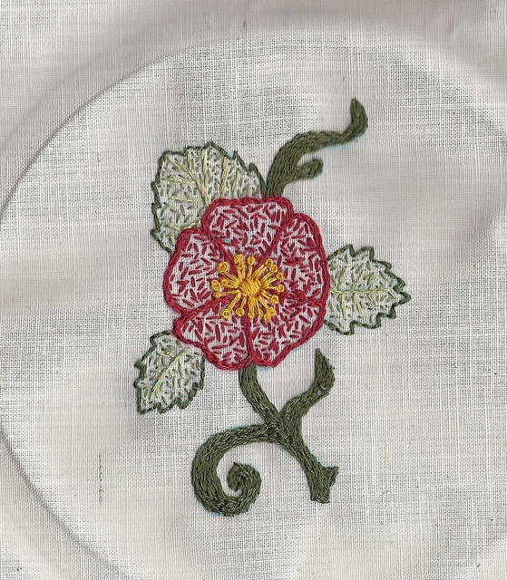 Flower embroidery by mirele on Flickr #embroidery #needlepoint