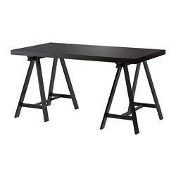 TORNLIDEN / ODDVALD Tavolo - marrone-nero/nero - IKEA