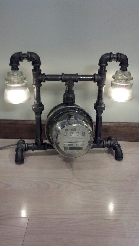 45 best electric gas meter lamps images on pinterest for Gas pipe lamp