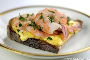 Shrimp crostini with saffron aïoli | Sounds Tasty | Pinterest
