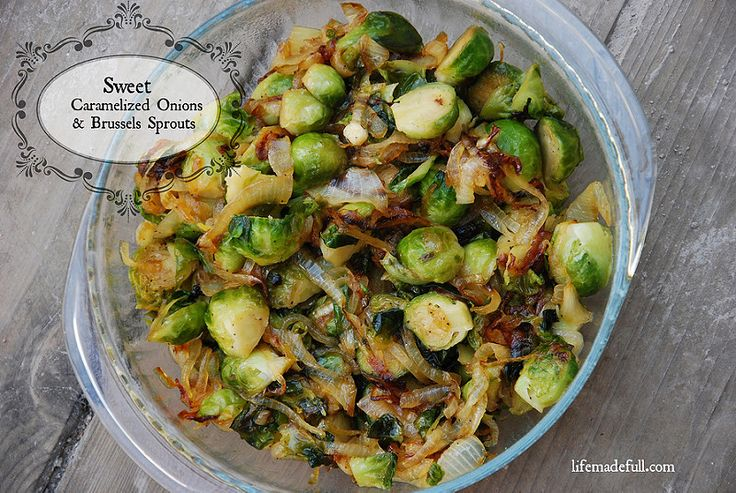 Try these amazing Sweet Caramelized Onions and Brussels Sprouts this Thanksgiving!