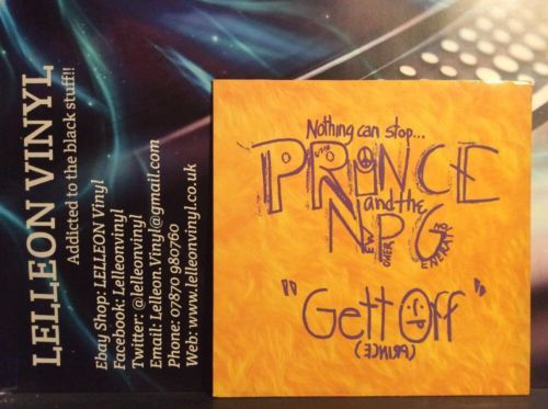 """Prince And The NPG Get Off 12"""" Single W0056T Pop 90's Music:Records:12'' Singles:Pop:1990s"""