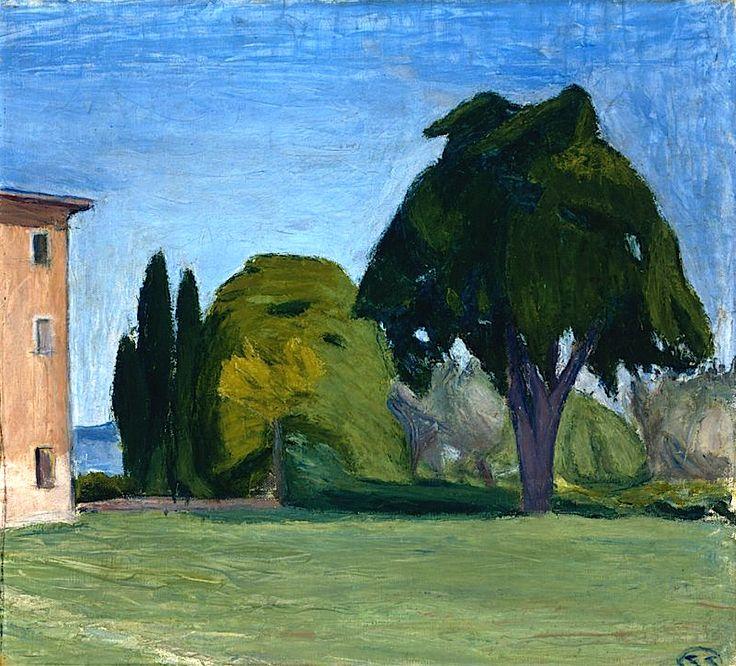 "Schauman, Sigrid Italian Landscape, ""Volterra"" 1909"