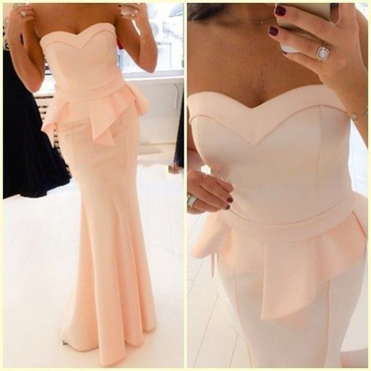 Elegant Sweetheart Blush Mermaid Satin Evening Dresses !Peach Formal Dress,Women Evening Gowns,Sexy Evening Dress, Fashion Gowns For Party,Simple Evening Dress,Cheap Evening Gowns