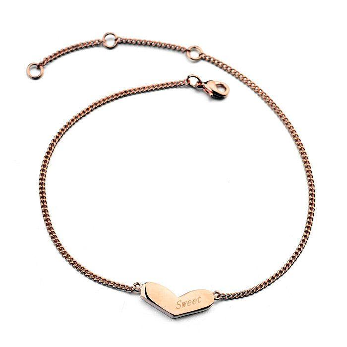 Высокое качество 18 К позолоченные новинка ножные браслеты с австрийских кристаллов сердца ножной браслет для девочки