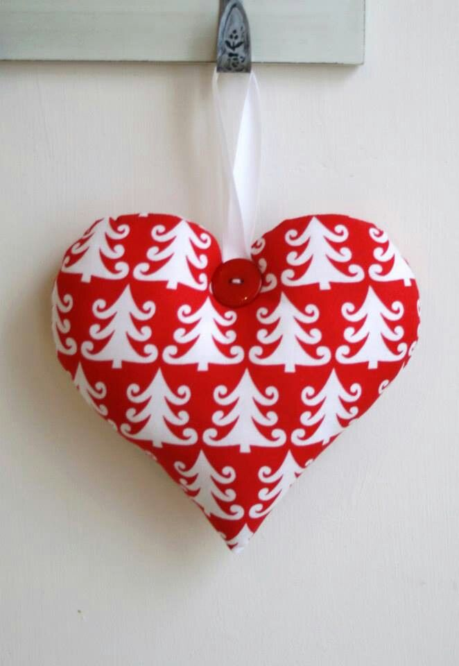 Hanging Heart - £7.50 - embroidered wording £5.00 extra.