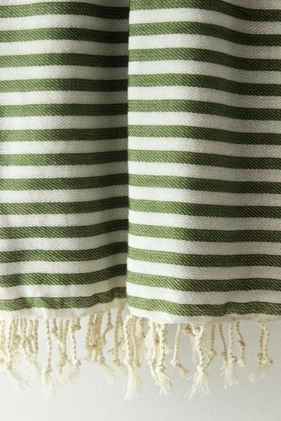 Plaj Turkish Towel in Green, A Canadian Product on Chill Bay General www.chillbay.ca