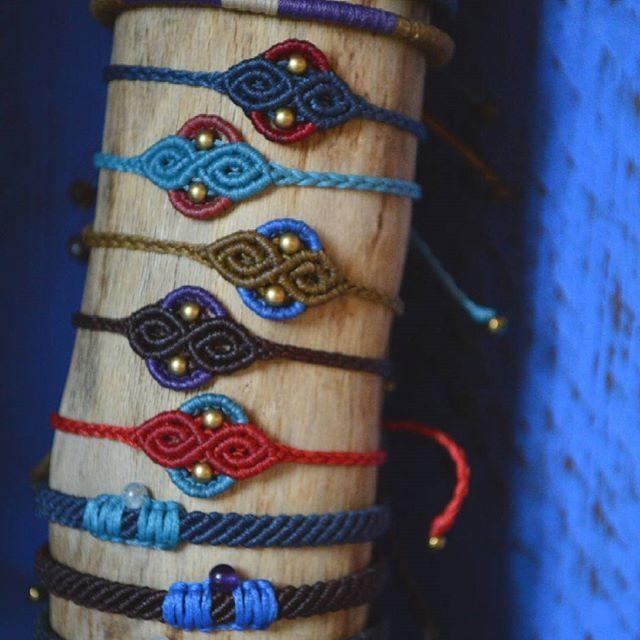 Last days bracelets 🌟    #macrame #MACRAMEJEWELRY #macrameknots #macramehandmade #handmadeingreece #handmade #indigomacrame #bracelets #indigomacrame #etsy #boho #bohemianjewelry #hippie #hippiejewelry #jewls #gembeads #beads #brass