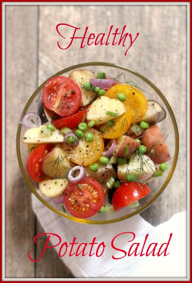 Healthy Potato Salad - @simply fresh dinners  #FridayPinFest