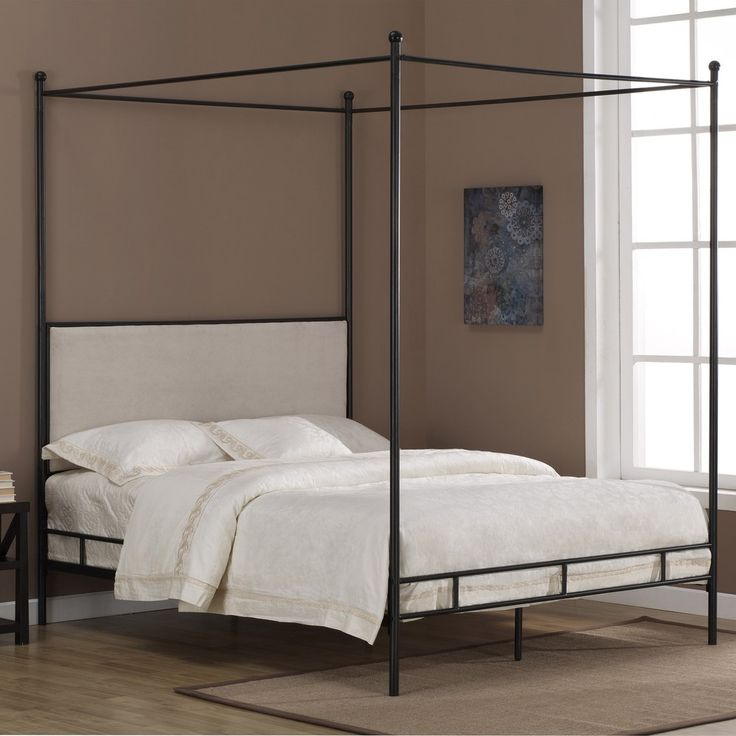 Lauren Upholstered Queen-size Canopy Bed | Overstock™ Shopping - Great Deals on Dimensions Beds $305