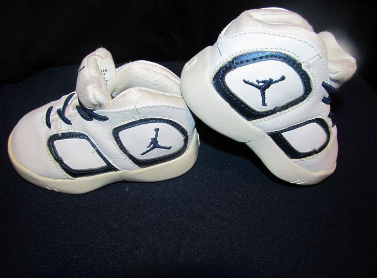 Best NIKE Air Jordans 031101 white black- - Infant size 3c - Baby Shoes