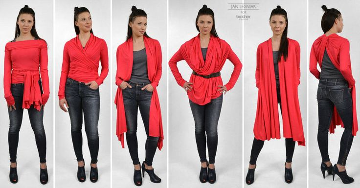 DIY: Cardigan that can be worn in 9 different ways http://www.pracowniajanlesniak.pl/en/diy-a-cardigan-that-can-be-worn-in-9-different-ways/