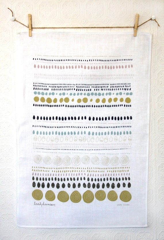 Leah Duncan tea towel on etsy
