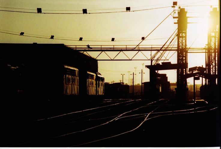 Dynon Yard fuel point silhouette.     Taken with my Canon AE-1