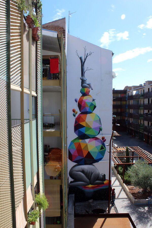 By okuda octavo asalto zaragoza spain 2013 street for Mural 7 de setembro