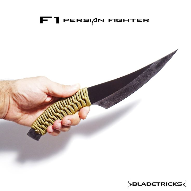 Bladetricks F1 Persian style Fighter knife, 550 paracord wrapping